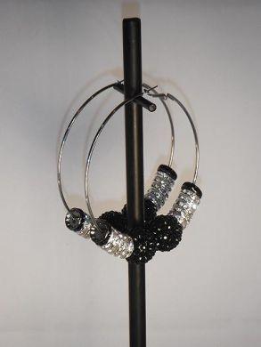 Silver & Black Basketball Wives Earrings
