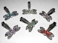 Antiqued Dragonfly Hair Clips