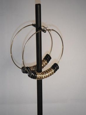 Black & Gold Basketball Wives Earrings