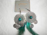 Designer Feather Earrings